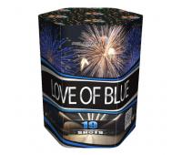 Салют Love of blue на 19 зарядов
